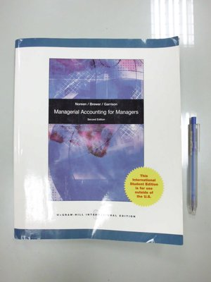 D4-5cd☆2011年出版『Managerial Accounting for Managers 2/e』