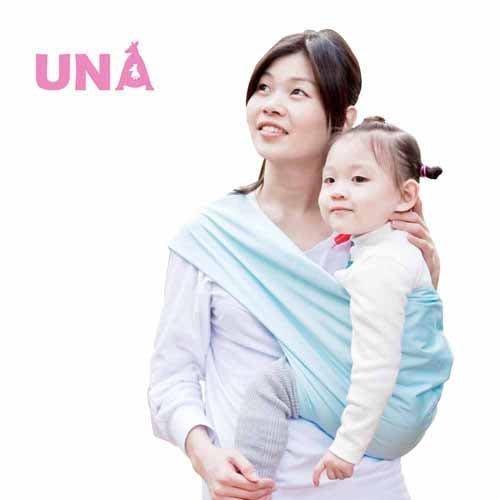 Una背巾 (哺乳揹巾) 背帶 推車 哺乳衣 巾最佳支援~嬰兒背巾 ☆╮精選彈性系列~清新天藍╭☆台灣製好品質