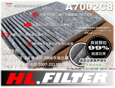 【PM2.5】HL 起亞 KIA SPORTAGE CARENS 柴油 款 原廠 型 複合式 活性碳 冷氣濾網 空調濾網