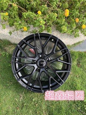 MAXX M11 19吋旋壓鋁圈 5孔112 5孔114.3 5孔120  平光黑 前後配 完工價