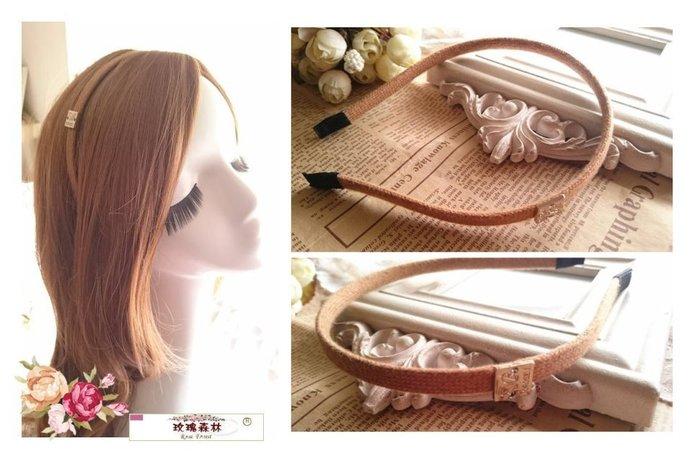 玫瑰森林- ☆°*美麗嚴選~ 慢生活 森林女孩針織簡約髮圈 髮箍(特價!!) 駝色