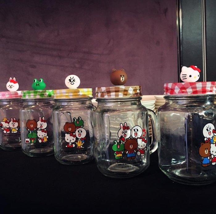 屈臣氏 #超集好朋友 Hello Kitty X LINE FRIENDS 一起嘗鮮罐  挑款  目前只有兔兔 青蛙