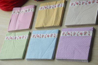 {采庭生活館}點點碎花紙巾 英式下午茶紙巾歐式婚禮派對野餐Candy bar 餐具(20張)