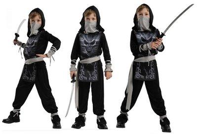乂世界派對乂 萬聖節服裝,萬聖節裝扮,英雄服裝,骷髏裝扮/忍者服裝/兒童變裝服/無敵骷髏忍者