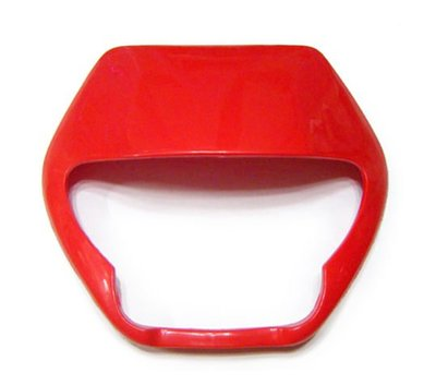 RILI~P~改裝用越野車/林道車/滑胎車 鬼面罩外罩(紅色) VR150 VR200 SM250 DT YZ KLX