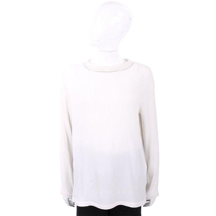 米蘭廣場 FABIANA FILIPPI 銀邊細節深白色美麗諾羊毛上衣 1810038-40