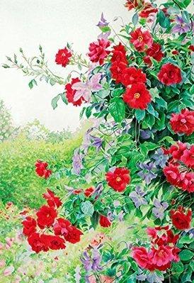 日本拼圖原裝進口 300片拼圖 渡邊三繪子 玫瑰花與鐵線蓮 AO-300-299