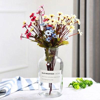 歐式花瓶歐式玻璃花瓶透明創意束口插花桌面裝飾擺件水培植物綠籮簡約花瓶