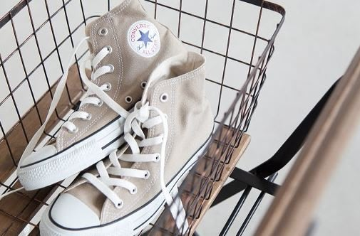☆AirRoom☆【現貨】Converse CANVAS ALL STAR COLORS HI 1CL128 奶茶色