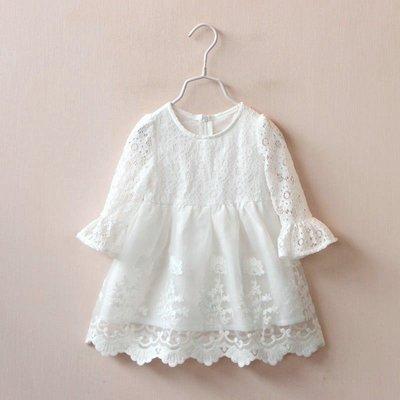 【溜。溜。選物】早買早優惠*新款*公主風 純白蕾絲甜美洋裝 連衣裙 紗裙