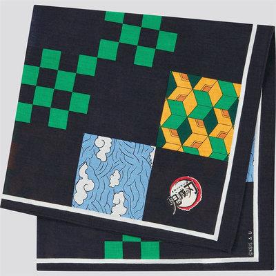 鬼滅之刃方巾-UNIQLO x 鬼滅之刃 聯名 無限列車 方巾 毛巾 圍巾 手帕 JUMP MANGA 優衣庫