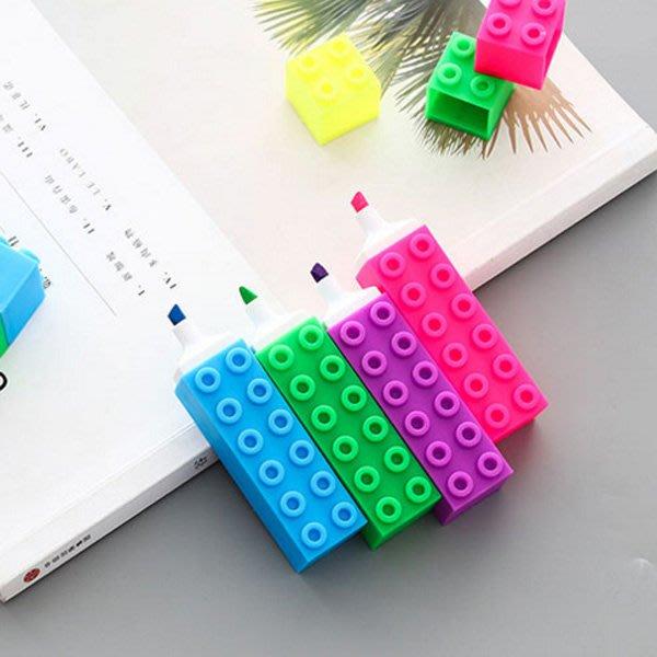 《Jami Honey》【JC3051】疊疊樂積木造型螢光筆