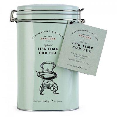 [要預購]英國代購 英國CARTWRIGHT&BUTLER 來喝個茶吧 鹽味焦糖餅配上英式早餐茶組合 450g