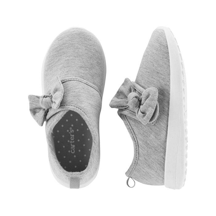 【Carter's】CS女童鞋全棉蝴蝶結灰 F03191002-04