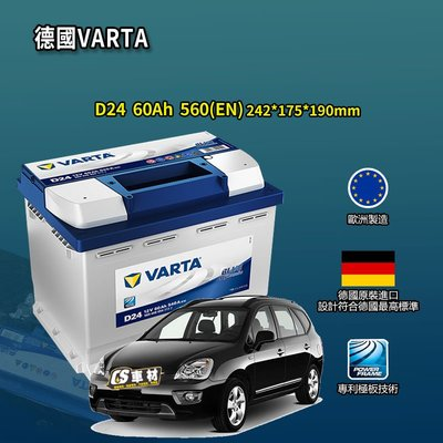 CS車材-VARTA 華達電池 KIA 起亞 EURO CARENS/SHUMA/SPORTAGE