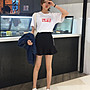 XL~5XL預購~大尺碼專屬❤️新款修身顯瘦荷葉邊高腰百搭純色短裙