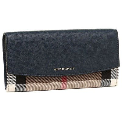 Burberry House Check and Leather Continentl wallet銀包 錢包 長銀包