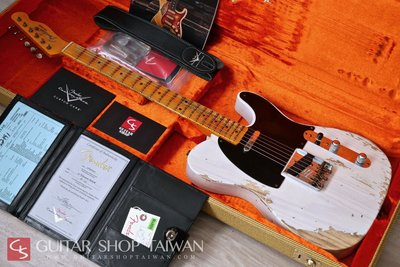 2020 Fender C/S 1952 Telecaster Heavy Relic-White Blonde