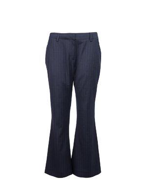 LIE - 海軍藍條紋喇叭褲