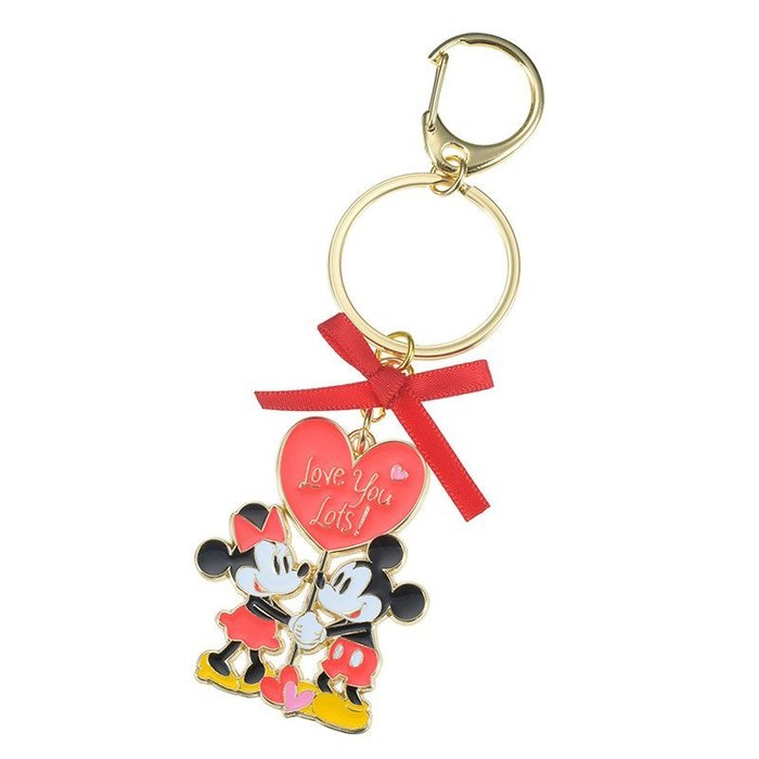 代購現貨  日本東京迪士尼商店  情人節米奇米妮充滿心愛情鑰匙扣