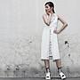SMACHIC studio 獨立設計師品牌 / 針織歐根紗壓褶設計感背心吊帶洋裝