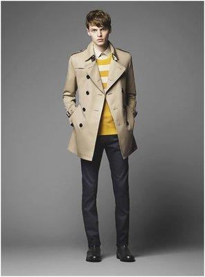 [降價囉] BURBERRY BLACK LABEL 2015 Trench Coat 雙排扣中長版風衣 蜂蜜色 尺寸L