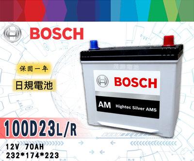 【茂勝電池】BOSCH 100D23L 100D23R 博世 免加水 日規電池 汽車電瓶 韓國製造 同 55D23L