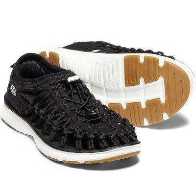 =CodE= KEEN UNEEK O2 SANDALS 編織彈性綁繩包後跟涼鞋(黑白) 1020580 拖鞋 大童 女