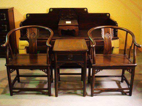 大高雄冠均二手貨家具(全省買賣)---全新【雞翅木】太師椅 官帽椅 1桌2椅   便宜出售 MG001