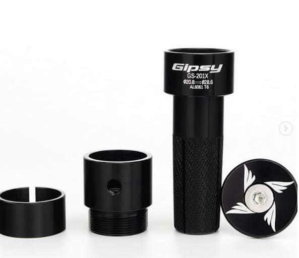 超輕量 競速型 GIPSY 龍頭轉接立管 立芯 豎管 20.8mm 適用:STRIDER PRO