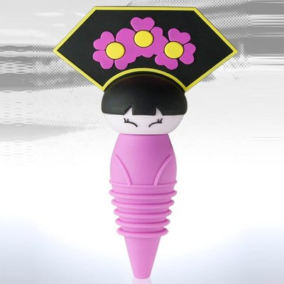 SiPALS的官帽酒瓶塞 (清朝格格),靈感源於歷朝人物官帽,使用食品級耐溫矽膠