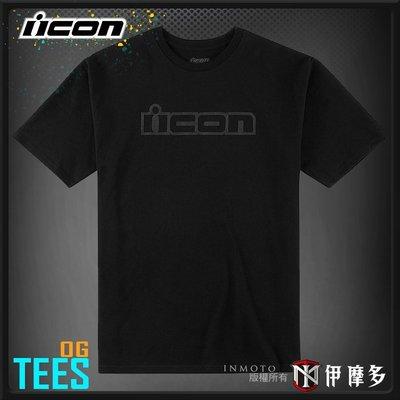 伊摩多※ 美國 ICON TEES OG 短袖 圓領 T恤 短T  100% 純棉 黑/紅 2色