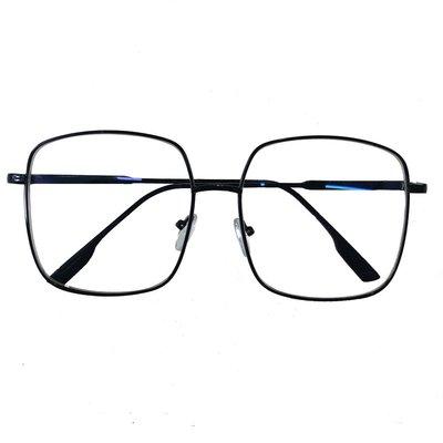 chic復古大框平光鏡百搭方框眼鏡架男女學生港風個性素顏近視眼鏡