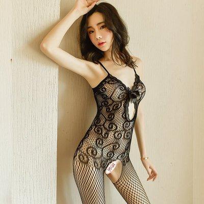 情趣館 性感情趣絲襪連身襪網衣服包臀裙女激情套裝騷血滴子開檔透視 禧禧