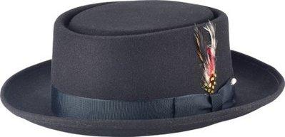 New York Hat #RS5145 PORK PIE/Made in USA 藝人最愛配件品牌  黑色/酒紅