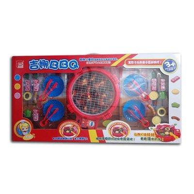 【Baby  House】 現貨超取需裁切外盒  兒童BBQ 電動烤肉玩具  電動燒烤  仿真家家酒玩具