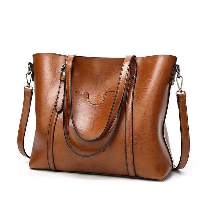 歐美時尚女士手提包 斜挎包 單肩托特包 PU材質 (預購+現貨)