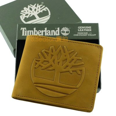 【Timberland 專櫃正品】美國 代購 現貨 最新款浮凸大樹LOGO 小麥色麂皮零錢袋 短夾 男用 男生皮夾