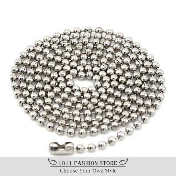 【 1011 精品小舖 】 鈦鋼 / 不鏽鋼 珠鍊 珠鏈 不鏽鋼鍊 項鍊 全長 55cm 不退色