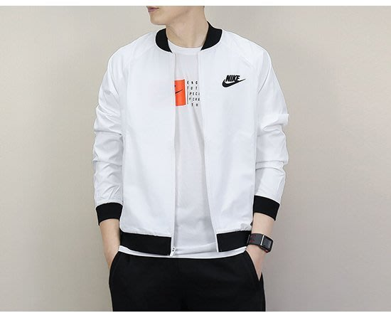 NIKE 耐克 教練 騎士 夾克 832225 運動外套 深藍色 白色 黑色 耐吉 薄外套 棒球外套 風衣 愛迪達/澤米
