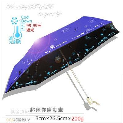 【RAINSKY傘】夢の旅_超輕降溫-防曬自動傘 (深海藍) / 防風傘抗UV傘陽傘雨傘防曬傘降溫傘摺疊傘折傘 (免運)