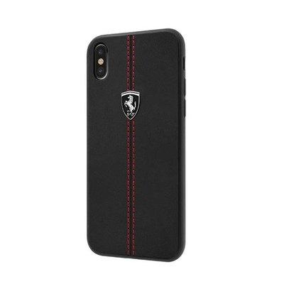 彰化手機館 法拉利 送玻璃貼 iPhoneX Ferrari 手機殼 正版授權 真皮直紋縫線背蓋 iPhoneXS