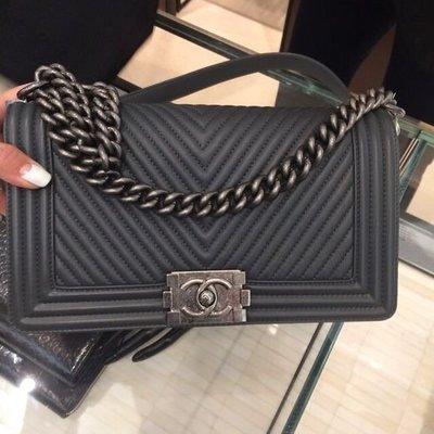 Chanel 鐵灰色25cm boy 新北市