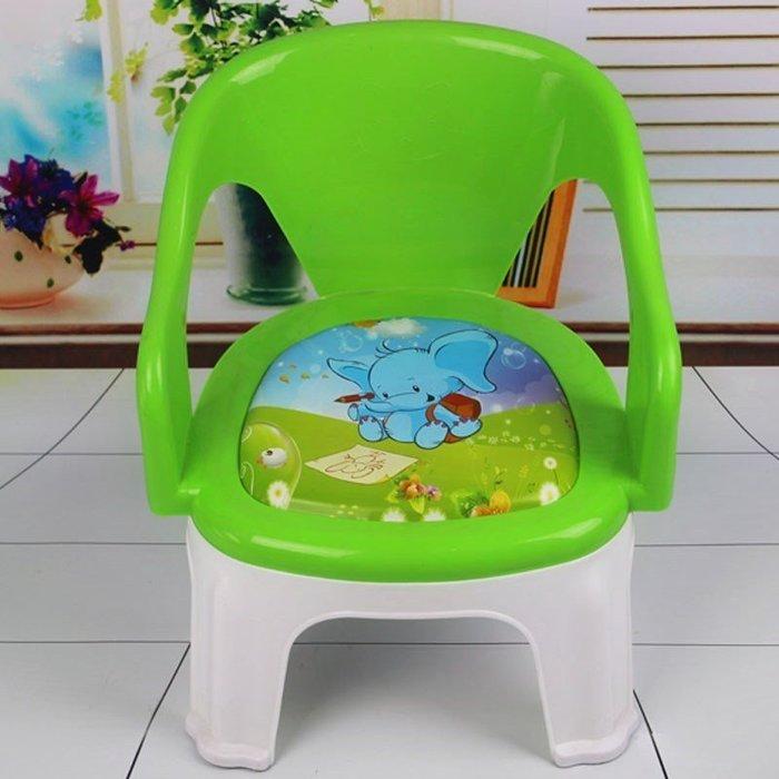 寶寶兒童凳子小板凳加厚塑料嬰兒B1-3歲叫叫椅小椅子卡通靠背