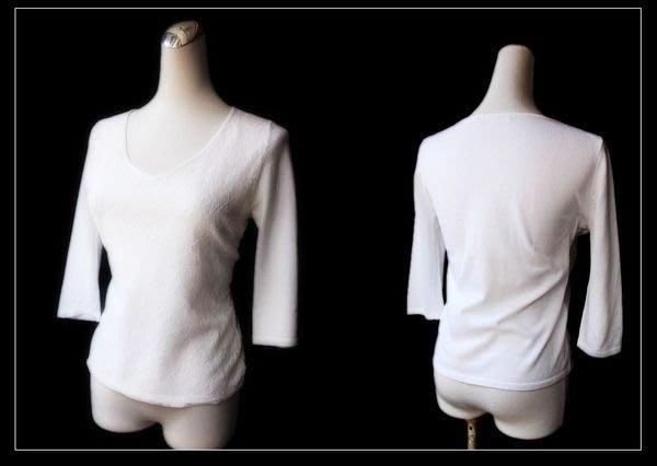 *Beauty*日本23區白色蕾絲五分袖針織衫 IR