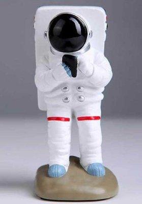 【手機座-太空人造型-樹脂-高12.5釐米-重300克-1個/組】懶人手機支架生日禮品創意禮品創意-586002