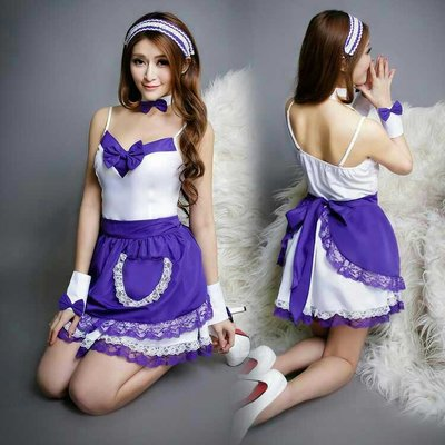 Sexy lingerie Maid Waitress Uniform Cosplay Costumes Outfit
