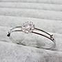 【Love Trina】8188-0213 雙圈雪花大鋯石C型手環。C型手環-可微調-(銀色)