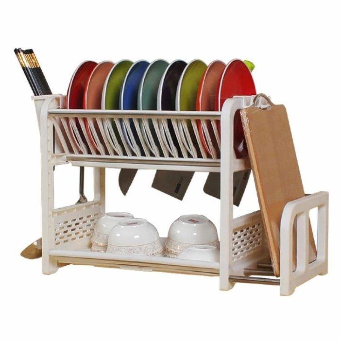 碗架碗柜塑料瀝水裝碗筷收納餐具用品用具小百貨放刀架廚房置物架第