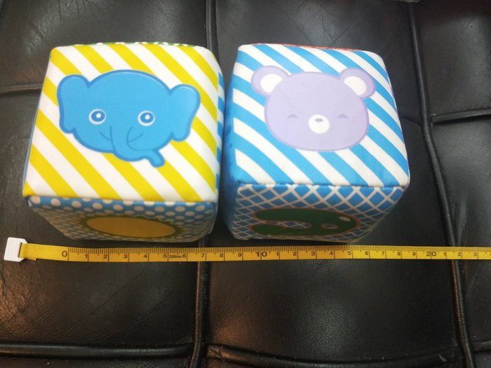 特價品 骰子 兩個ㄧ組 內有鈴鐺 柔軟布料 玩具 娃娃機 可面交